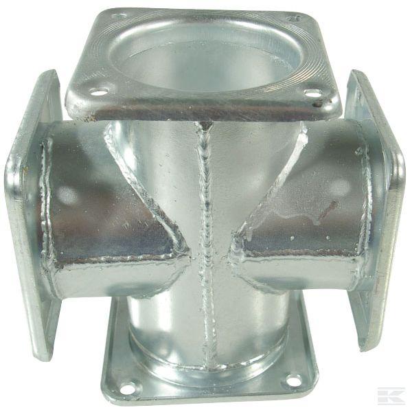 Блок распределительный многоходовой / элемент крестообразный с четырехгранным фланцем