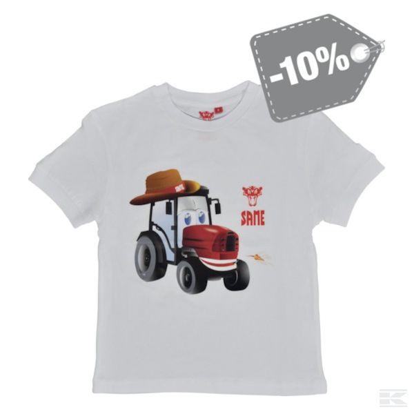 M03S001 Белая футболка для детей