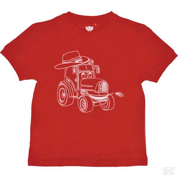 M03S002 Красная футболка для детей 6 лет