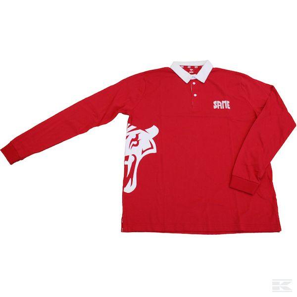 M01S008 Мужская рубашка-поло с длинным рукавом