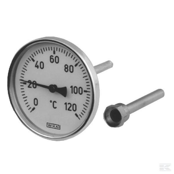 1000120A4502BТермометр D100 0-120°C