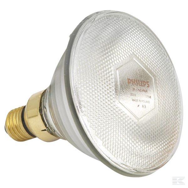 1756080517Инфракрасная нагревательная лампа PAR Прозрачная 175 Вт