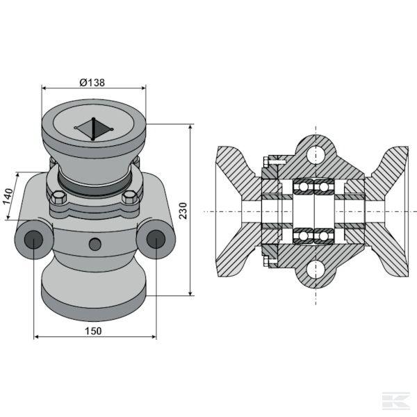 17100011+Ball bearings compl.