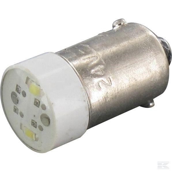 010BA9SLB24СИД лампа BA9S, 24V Белый