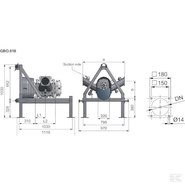 APK0000122Роторный насос FX116-300S + рама